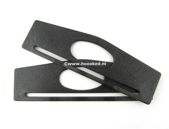 Bag Handles - Recycled PE Rectangular - 28cm wide by Hoooked