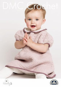 Baby's Rosie Ruche Dress Pattern - DMC Crochet