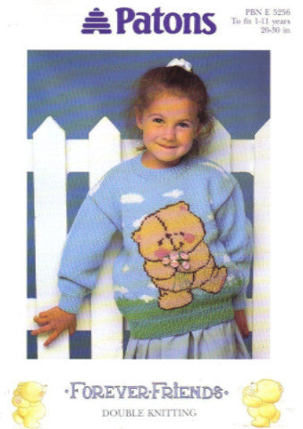 Childs Forever Friends Sweater - Patons 5256