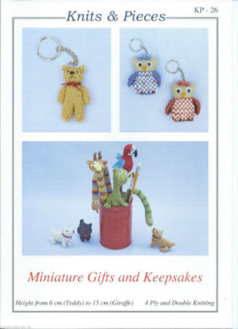 Miniature Gifts and Keepsakes Knitting Pattern - Knits & Pieces KP-26