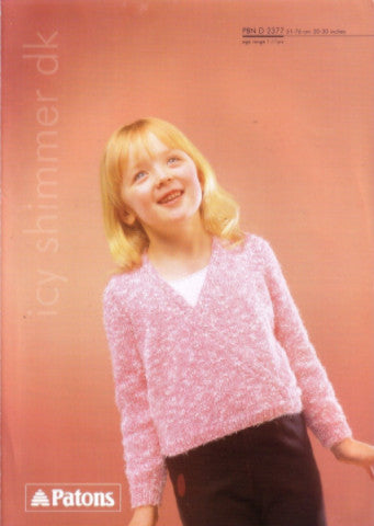 Girls Wrap Front Ballet Top Knitting Pattern - Patons 2377