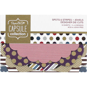 Papermania Capsule Collection Spots & Stripes Die Cuts Jewels