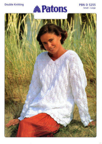 Ladies Crochet Sweater Pattern - Patons 5255