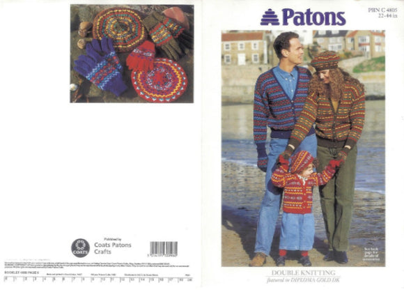 Family Fairisle Cardigans, Beret and Gloves - Patons 4805
