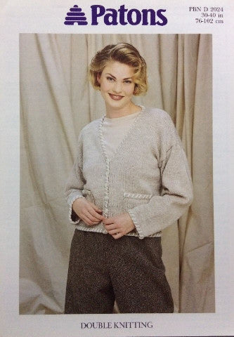 Ladies Cardigan Knitting Pattern - Patons 2024