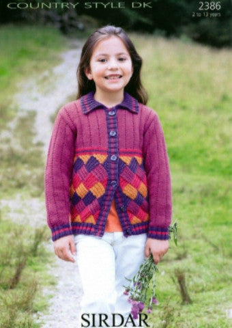 Girls DK Jacket Knitting Pattern - Sirdar 2386