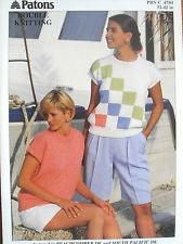 Ladies Cap sleeve Tops Knitting Pattern - Patons 4704