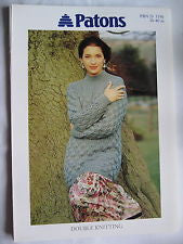 Ladies Leaf Stitch Sweater Pattern - Patons 5190