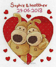 Boofle Sweethearts Cross Stitch Kit from DMC