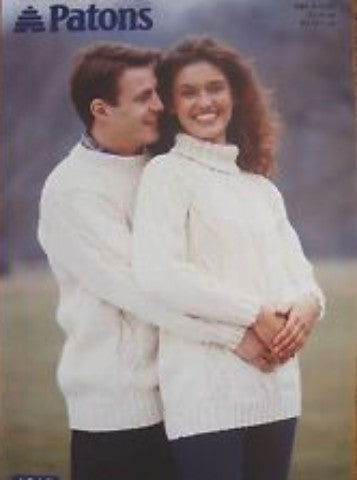 His and Hers Aran Sweaters - Patons 2345