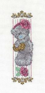Vintage Rose Me to You Tatty Teddy Bookmark Cross Stitch Kit from DMC