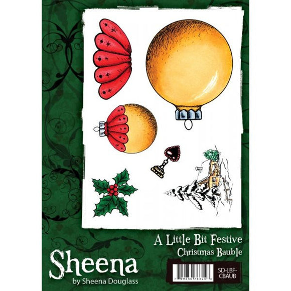 Sheena Douglass A Little Bit Festive A6 Unmounted Rubber Stamp - Christmas Bauble