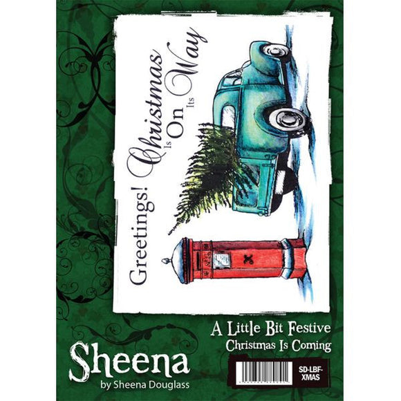 Sheena Douglass A Little Bit Festive A6 Unmounted Rubber Stamp - Christmas is Coming