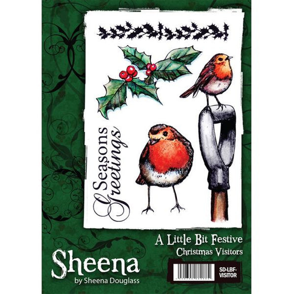 Sheena Douglass A Little Bit Festive A6 Unmounted Rubber Stamp - Christmas Visitors