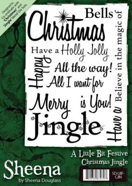 Sheena Douglass A Little Bit Festive A6 Unmounted Rubber Stamp - Christmas Jingle