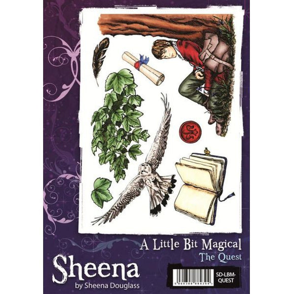 Sheena Douglass A Little Bit Magical A5 Unmounted Rubber Stamp - The Quest