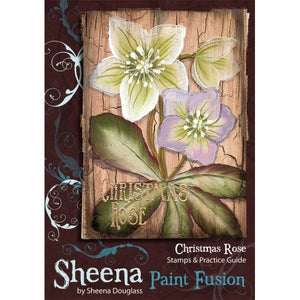 Sheena Douglass Paint Fusion A6 Unmounted Rubber Stamp - Christmas Rose
