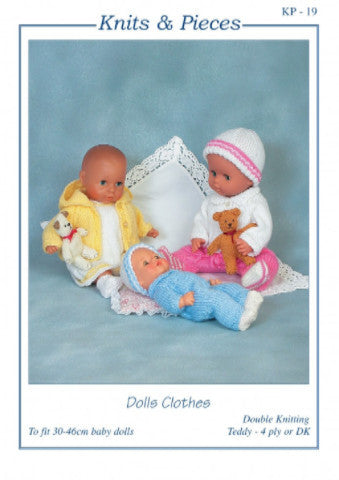 Dolls' Clothes Knitting Pattern - Knits & Pieces KP19