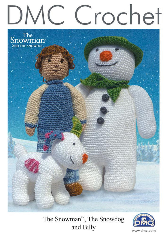 The Snowman, The Snowdog and Billy - DMC Crochet Amigurumi Pattern