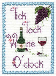 DMC - Tick Tock Wine O' Clock Cross Stitch Kit - BK1431