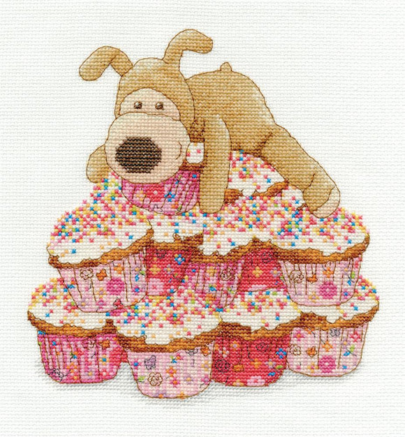 Boofle Cupcakes Cross Stitch Kit from DMC