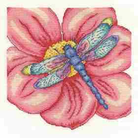 DMC Cross Stitch Kit - Butterflies And Insects - The Dragonfly