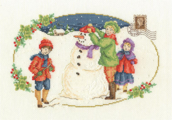 DMC Building a Snowman Cross Stitch Kit