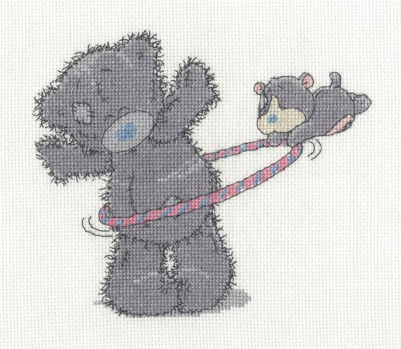 DMC - Tiny Tatty Teddy - Hula Hoop Cross Stitch Kit BL1134/72