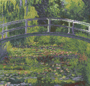 DMC - National Gallery - Monet's The Waterlily Pond Cross Stitch Kit - BL1111/71