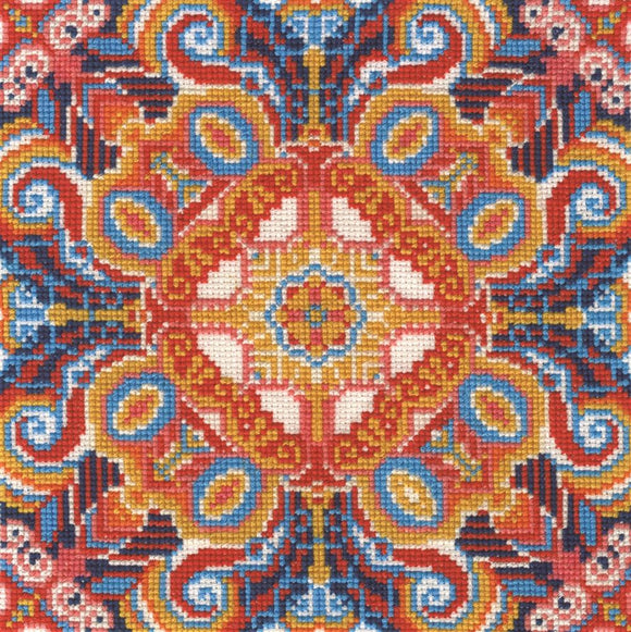 DMC - Floral Illusion Cross Stitch Kit - BK1641