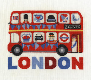 DMC - London Bus Cross Stitch Kit - BK1648