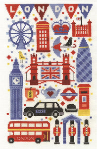 DMC - London Attractions Cross Stitch Kit - BK1580