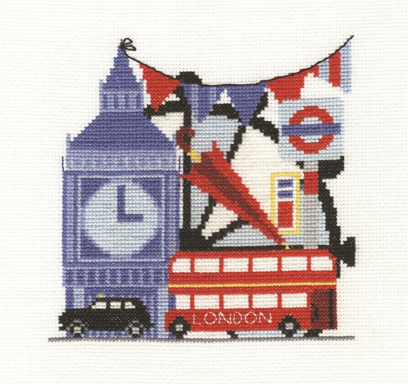DMC - London Sightseeing Cross Stitch Kit - BK1651