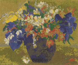 DMC - National Gallery - Gaugin's Vase of Flowers Cross Stitch Kit - BL1114/71