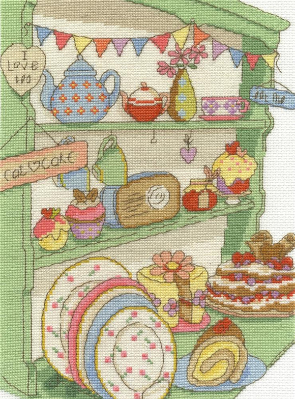 DMC - Home - I Love Tea and Cake Cross Stitch Kit - BK1652