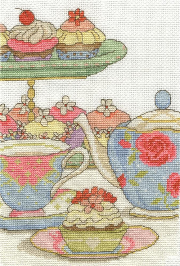 DMc - Home - Cupcake o' Clock Cross Stitch Kit - BK1654