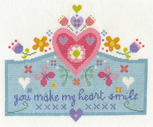 DMC - Messages - You Make My Heart Smile Cross Stitch Kit