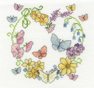 DMC - Butterflies in Bloom Cross Stitch Kit - BK1674
