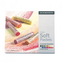 Daler Rowney Artists Soft Pastels-16 Set Assorted Selection
