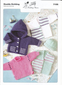 Teddy Knitting Pattern 7185 - Children's DK Simple Garter Stitch Classics