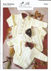 Teddy Knitting Pattern 7191 - Aran Childrens Sweaters & Jackets