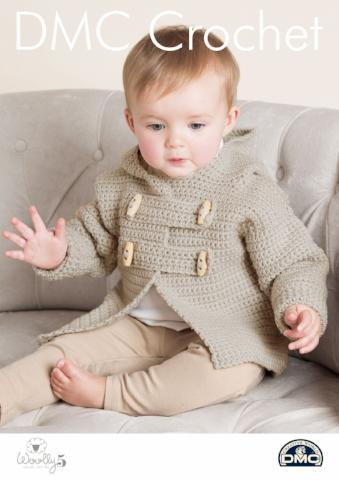 Baby's Teddy Toggle Jacket Pattern - DMC Crochet