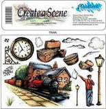 Creative Expressions Create a Scene Rubber Stamps