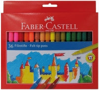 Faber Castell Fibre Tipped Pens - Pack of 36