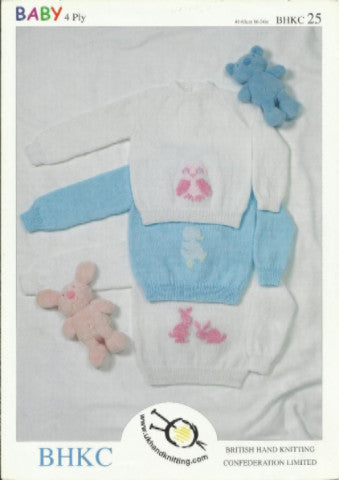 Babies Animal Motif 4 Ply Jumpers- UKHKA 25
