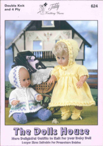The Dolls House Knitting Pattern Book - Teddy 624