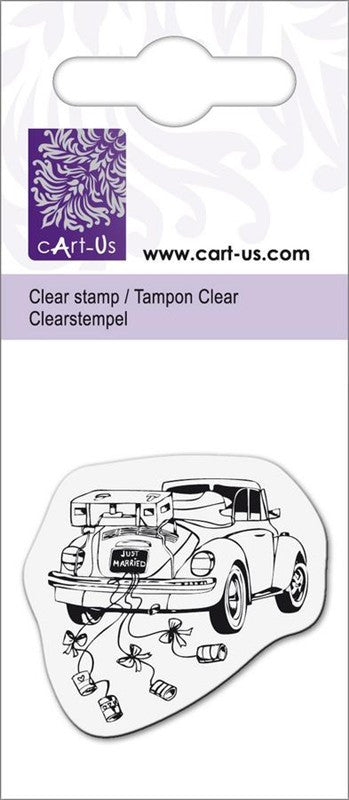 cArt-Us Clear Stamps - Wedding Car