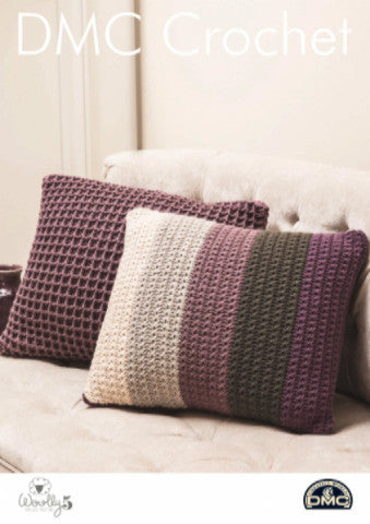 Waffle and Star Cushions - DMC Crochet Pattern