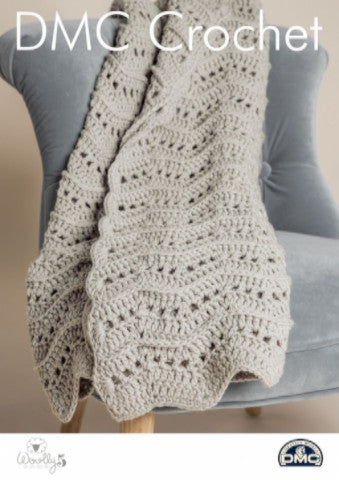 Warm and Wavy Throw - DMC Crochet Pattern