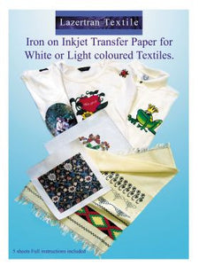 Lazertran light cloth transfer paper